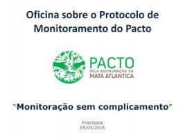 Oficina sobre o protocolo de monitoramento do PACTO
